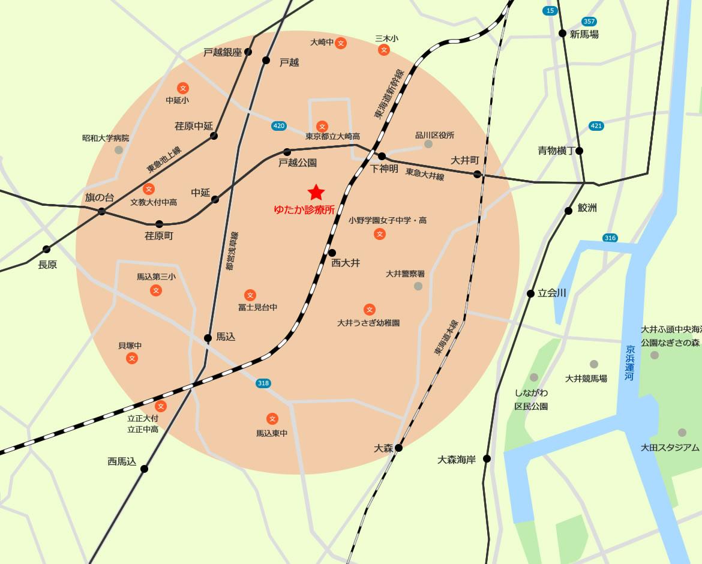 訪問可能エリアマップ